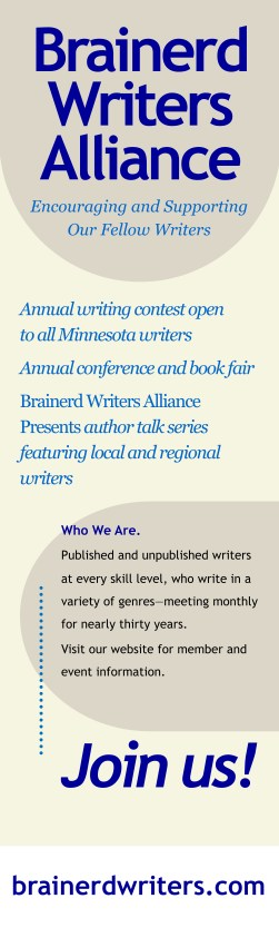 Brainerd Writers Alliance banner