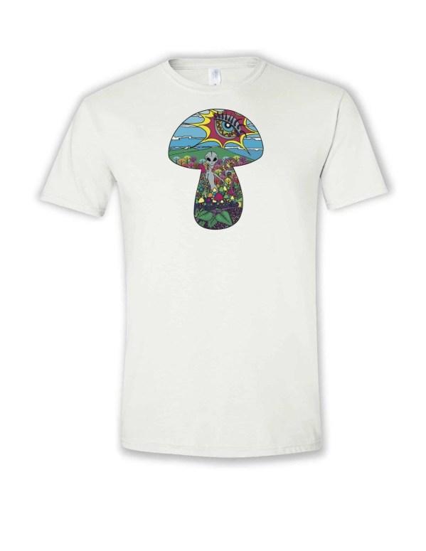 Alien mushroom picker design tshirt