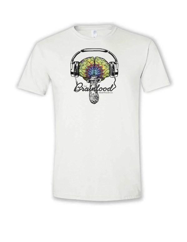 headphone brainfood mushroom logo