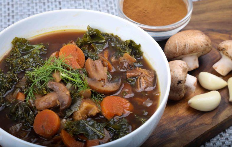 Vegan Reishi Mushroom Vegetable Soup