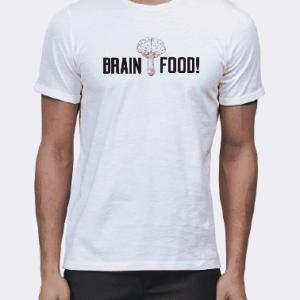 brainfood mushroom t-shirt