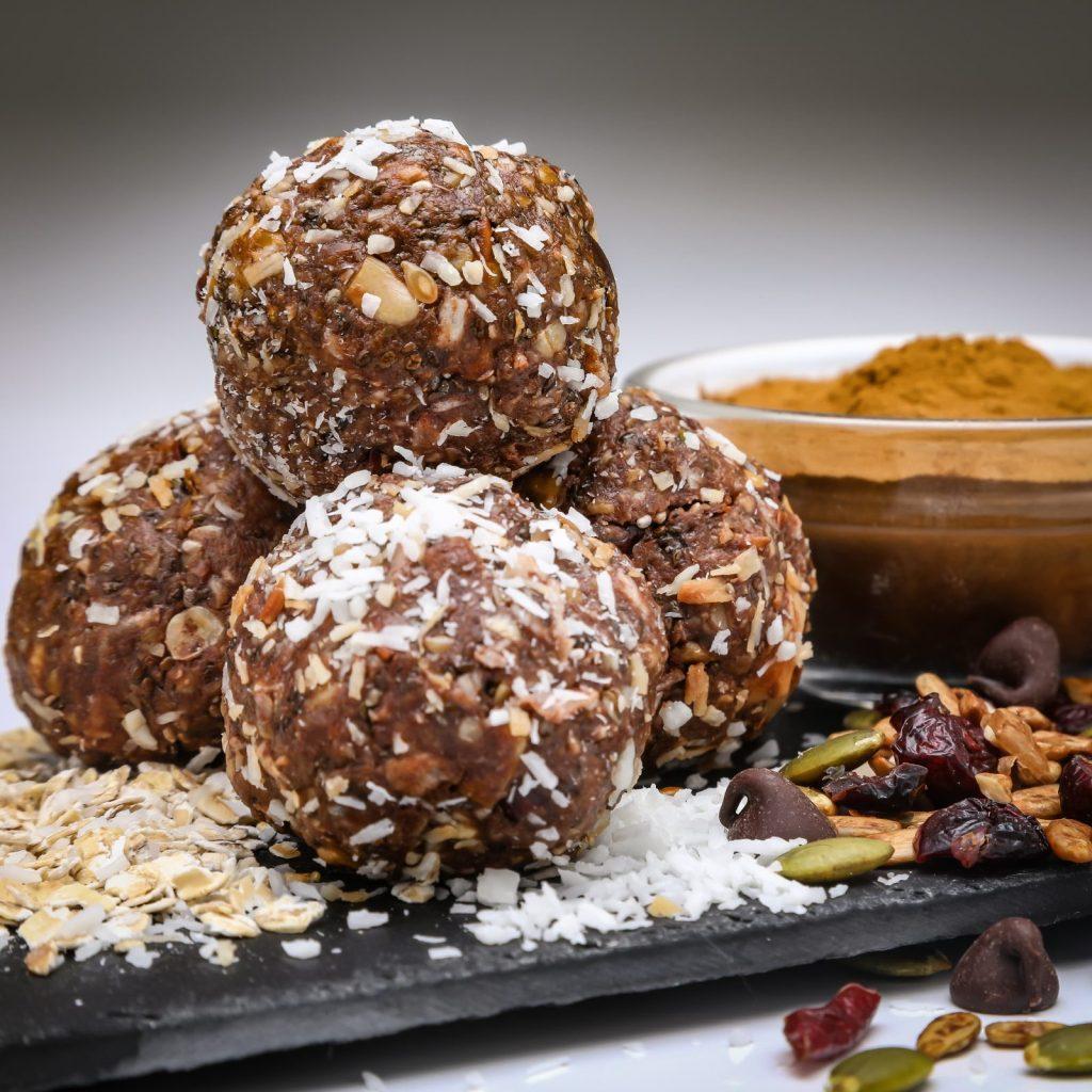 VEGAN, GLUTEN-FREE CHOCOLATE, REISHI, ENERGY BALLS