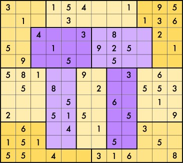 Brainfreeze Sudoku puzzle for Pi day