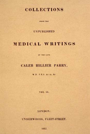 Caleb Parry medical writings