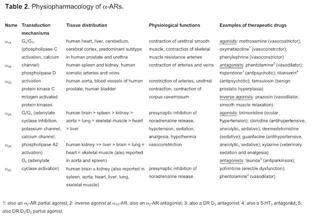 endogenous catecholamines lymphocytes Table2