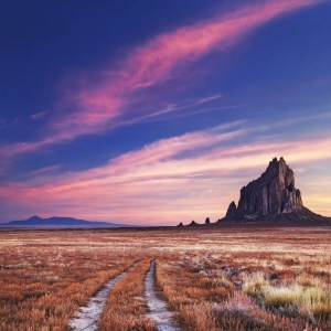 48059551 - shiprock, the great volcanic rock mountain in desert plane of new mexico, usa