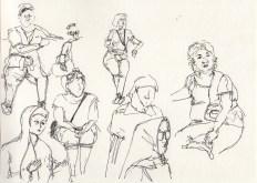 Figure Studies of Tourists