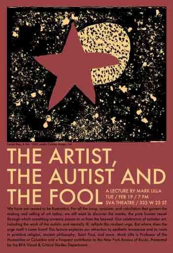 Poster 6 - The Artist, The Autist, and the Fool