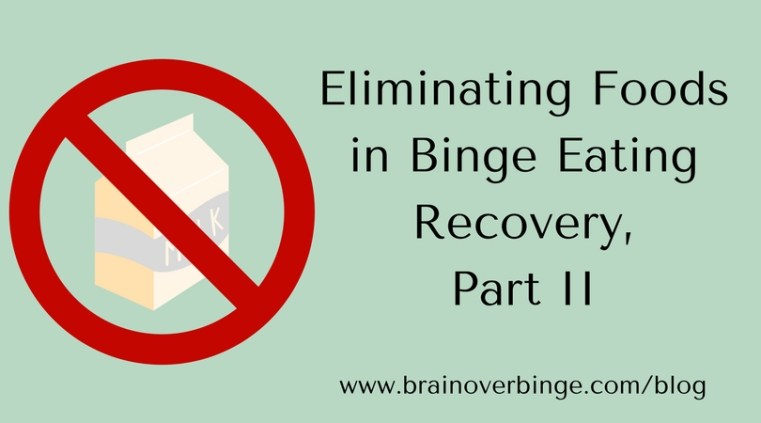 eliminating foods binge eating