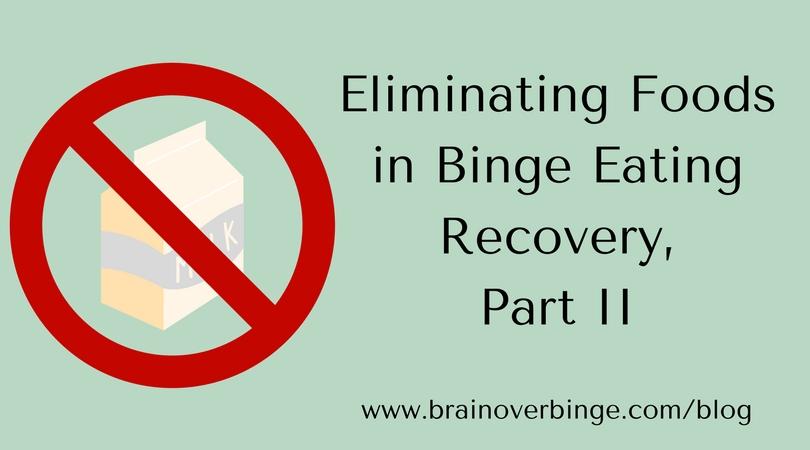 eliminating foods binge eating