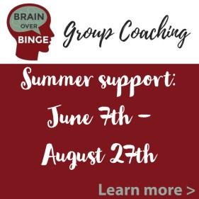 summer support group brain over binge