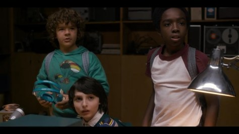 Lucas Sinclair, Mike Wheeler, Dustin Henderson, Netflix, Stranger Things