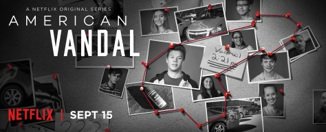 American Vandal, Netflix, Woodhead Entertainment, 3 Arts Entertainment, Funny or Die, CBS Television Studios
