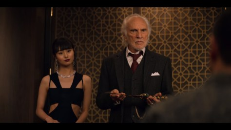 Malcolm Quince, Murder Mystery, Netflix, Happy Madison Productions, Endgame Entertainment, Vinson Films, Denver & Delilah Films, Tower Hill Entertainment, Mythology Entertainment, Terence Stamp