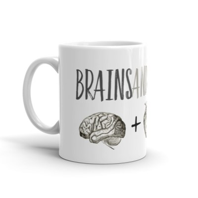 Brains and Heart Logo Mug