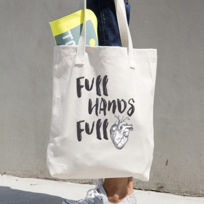 Full Hands Full Heart Tote bag