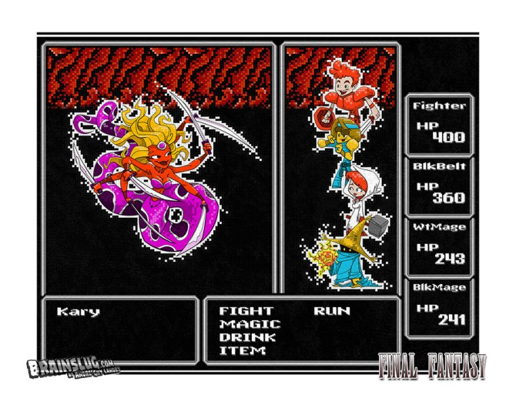 Final Fantasy 1 - Battle with Kary