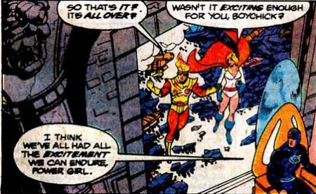 Justice League 185 Firestorm Power Girl Metron