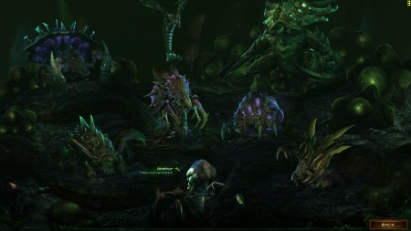 Starcraft II Heart of the Swarm evolution pit
