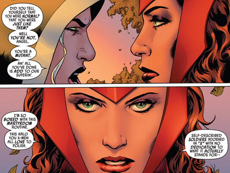 Uncanny Avengers-1-scarlet-witch-vs-rogue