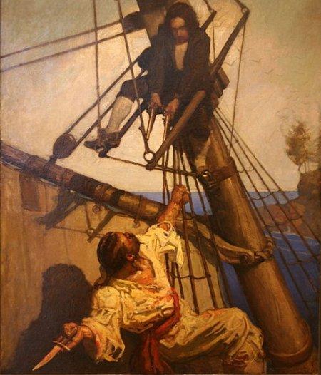 jim_hawkins_ N.C. Wyeth_treasure_island