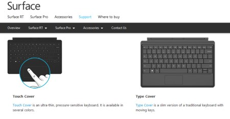 Surface keyboard teclado