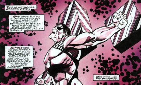 Nick Fury VS SHIELD crucified crucificado sadomaso