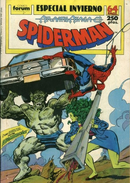 Spiderman especial invierno 1989 Atlantis Ataca