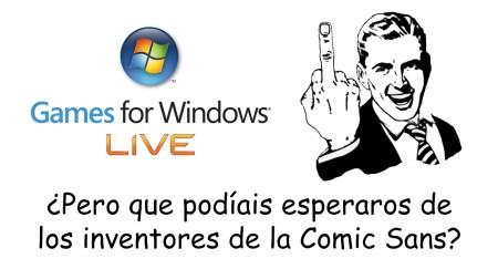 GFWL comic sans Microsoft
