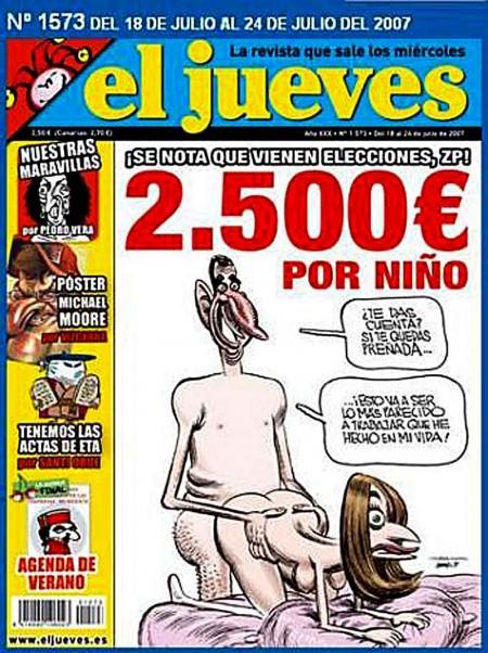 EL jueves portada censurada