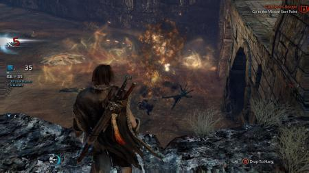 SHADOW OF MORDOR explosion