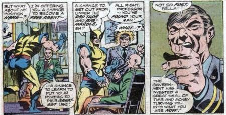 Giant-Size X-men reclutando a lobezno wolverine