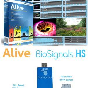 Alive Pioneer Biofeedback with BioSignals Dual SCL HRV Sensor