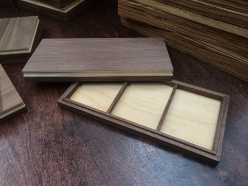 Triple Walnut Display Box (BV BRANDED - Holds Three Decks)