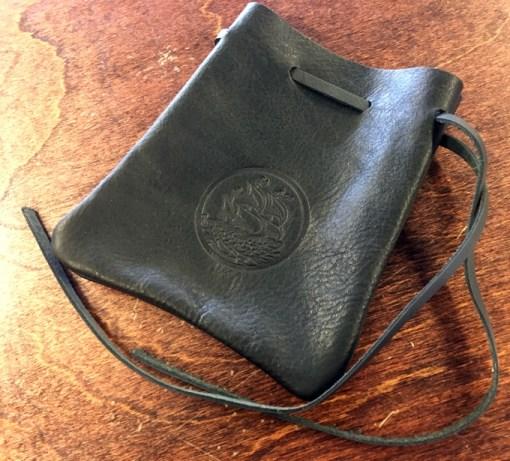 Bones Black Leather Pouch (pre-order)