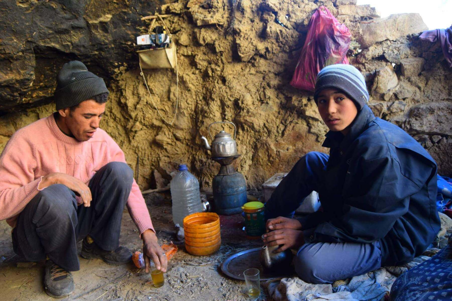 Photo by Hamish - Moroccan nomads drinking tea