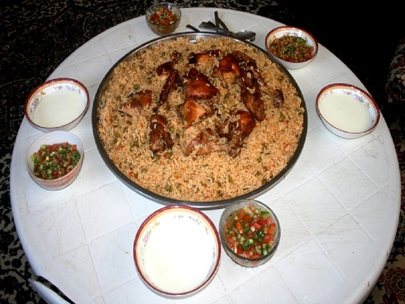 Wahyuni was invited to a home made meal in Jordan