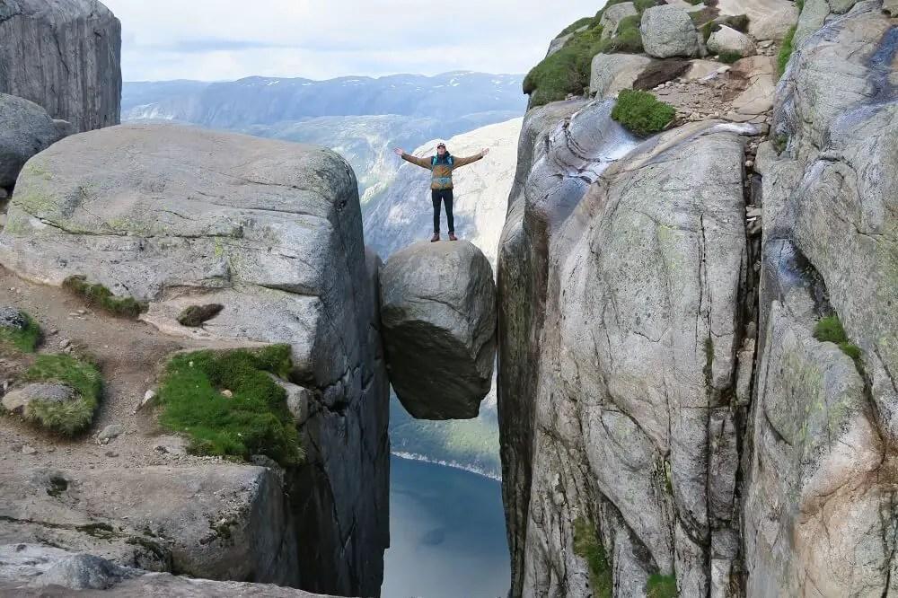 Norway hiking to Kjeragbolten