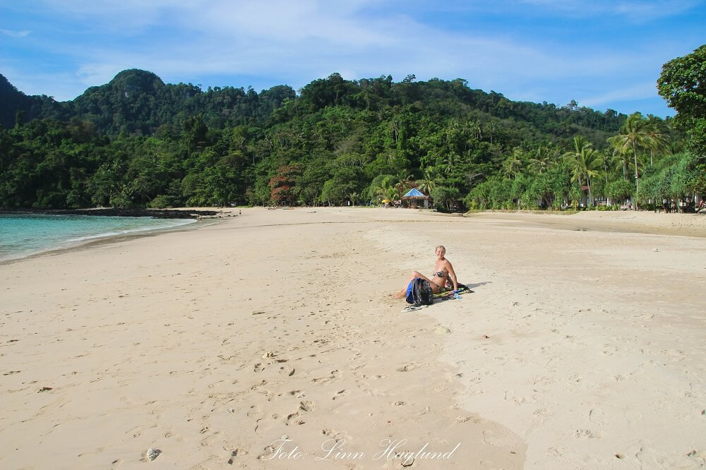 Me on the empty beach in Koh Mook