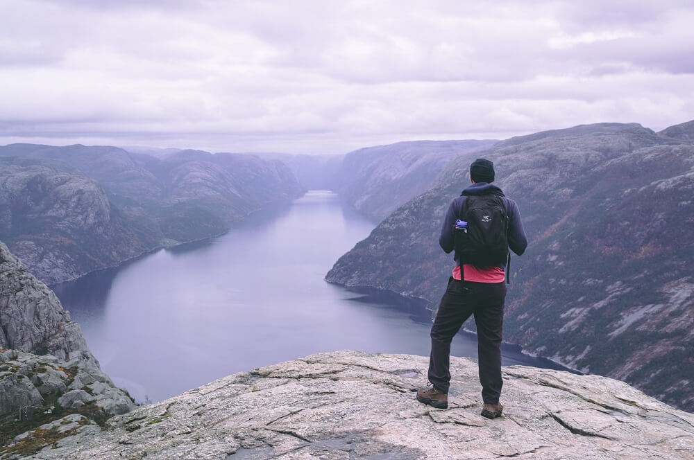 The views from Preikestolen over the fjords is a good reward after a beautiful hike in Norway