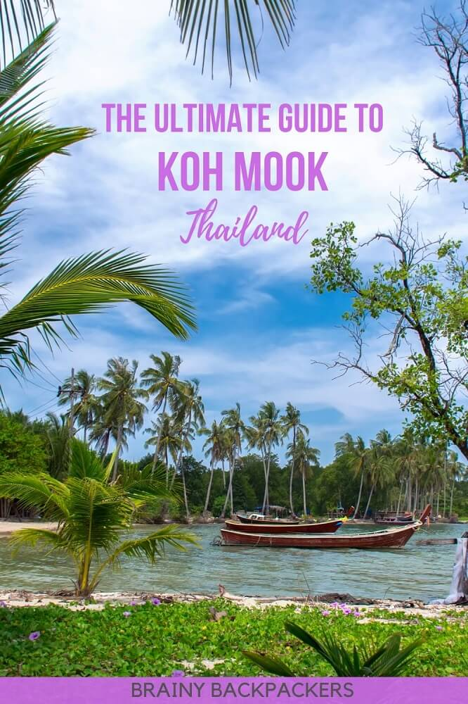 Looking for a less visited island in Thailand? Koh Mook is the perfect Thailand off the beaten track island and this guide tells you everything you need to know. #responsibletourism #travelguide #travel #thailand #southeastasia #asia #island #exotic #travelguide #brainybackpackers