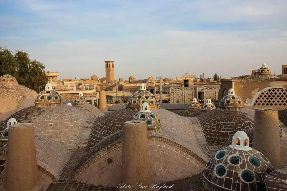 Sultan Amir Ahmad Bathhouse rooftop in Kashan