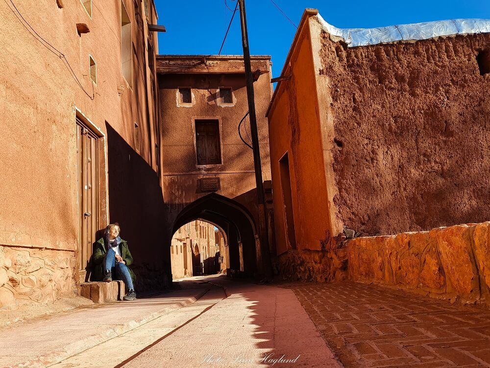 One of the main streets through Abyaneh village in Iran