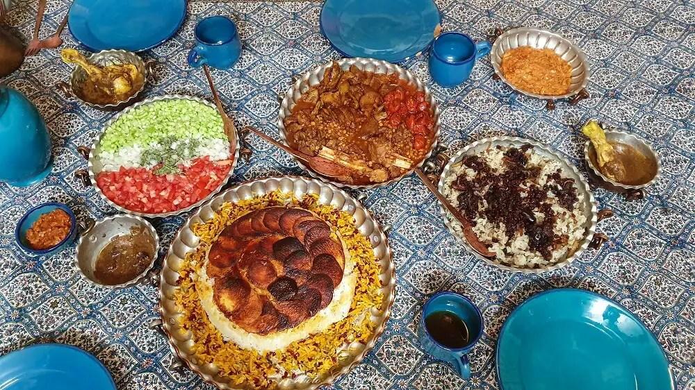 Both veg and non-veg traditional, homemade Iranian food.