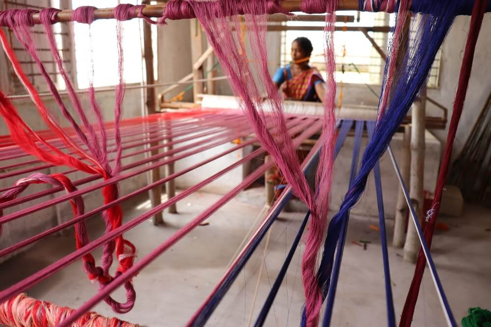 Support small local sari manufacturers in India