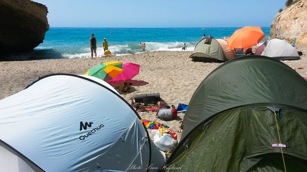 Beach camping locally