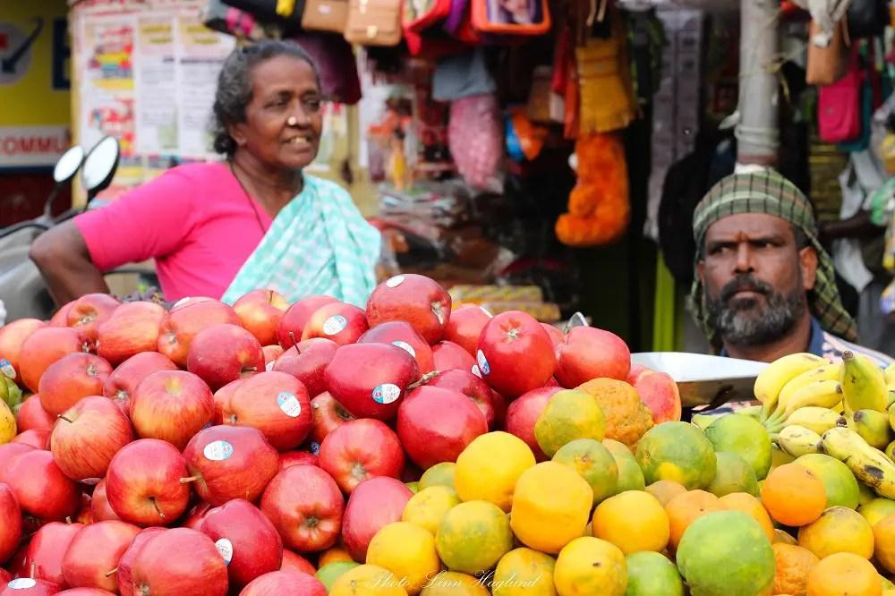Fruit sellers in Munnar India