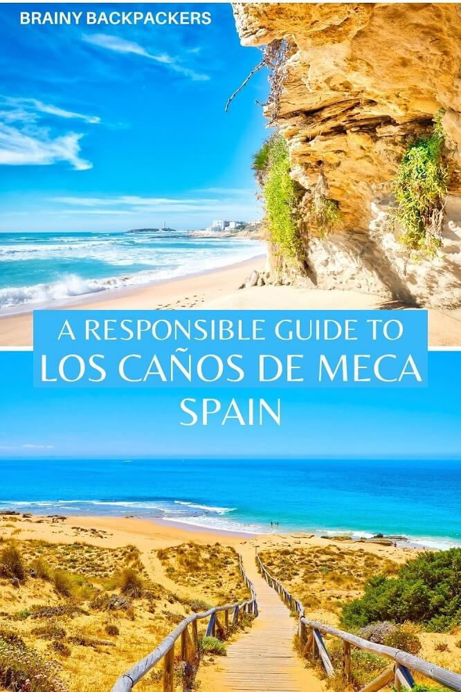 Are you looking for a truly bohemian beach destination in Spain? Los Caños de Meca is your place! Off the beaten path in Spain, Los Caños de Meca is a true paradise. A complete and responsible travel guide to Los Caños de Meca. #responsibletourism #brainybackpackers #travelguide #traveltips #offthebeatenpath #spain #europe #sustainabletourism #travel #beach #vacation #andalusia #andalucia