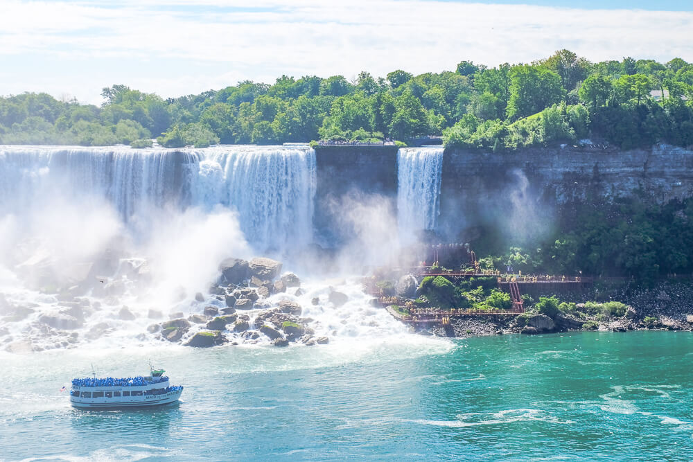 Niagara Falls is one of the best long weekend trips from Boston