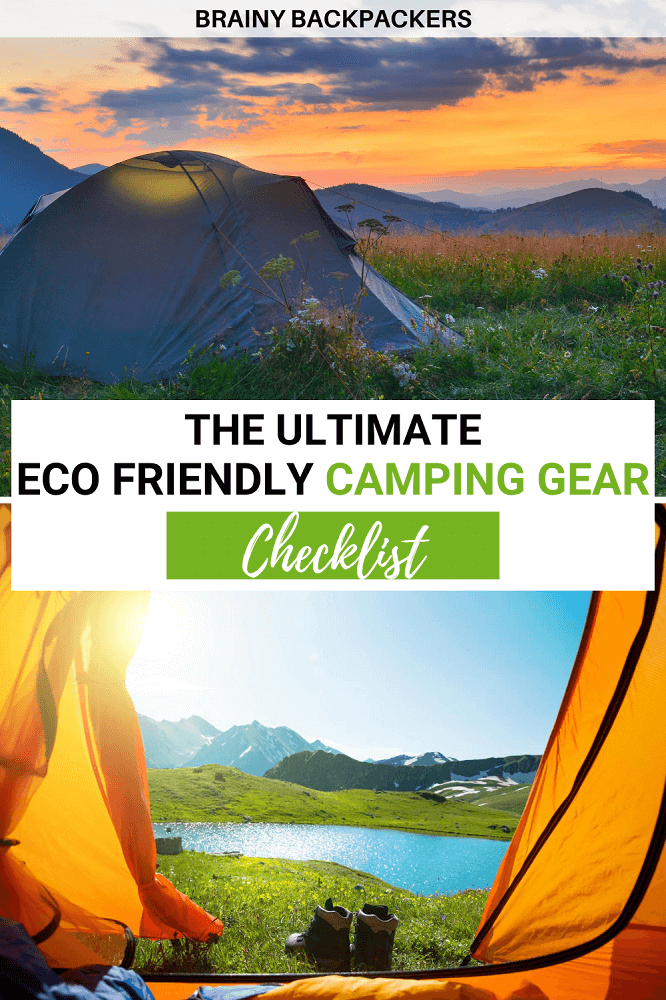 Need an eco friendly camping gear checklist and packing list? Here is all the essential camping gear for sustainable campers. Top camping gear for women and men and even dog camping gear for anyone aiming for zero waste camping, this post is packed with eco friendly camping products.